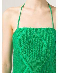 Rosie Assoulin - Green Embroidered Wide Leg Jumpsuit - Lyst