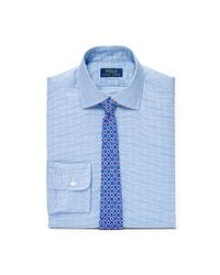 Polo Ralph Lauren - Blue Regent Slim Plaid Cotton Shirt for Men - Lyst