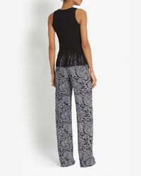 Timo Weiland - Black Exclusive Fringe Trim Knit Tank - Lyst