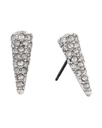 Sam Edelman - White Pave Spike Stud Earrings - Lyst