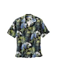 Tommy Bahama | Black 'flora Strada' Silk Camp Shirt for Men | Lyst
