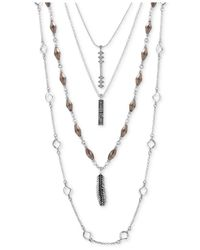 Lucky Brand - Metallic Four-layer Necklace - Lyst