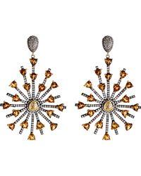 Carole Shashona - Metallic Women's Sun Sparkler Earrings - Lyst
