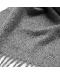 Mulberry - Gray Cashmere Scarf for Men - Lyst