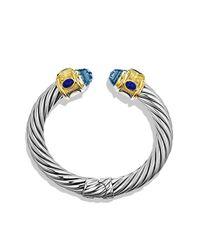 David Yurman - Renaissance Bracelet With Blue Topaz, Iolite, And Gold - Lyst
