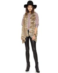 Jocelyn - Natural Fur Vest - Black - Lyst