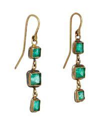 Judy Geib | Green Women's Emerald Triple-drop Earrings | Lyst