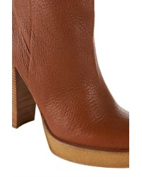HUGO | Brown Leather Ankle Boots: 'cruella' | Lyst