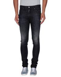 DSquared² - Black Denim Trousers for Men - Lyst