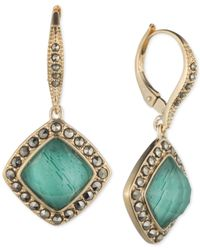 Judith Jack | Blue Gold-plated Malachite Leverback Drop Earrings (3-1/3 Ct. T.w.) | Lyst