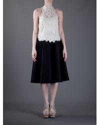 Ralph Lauren | White Embroidered Vest Top | Lyst