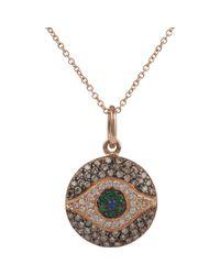Ileana Makri | Pink Women's Diamond, Tsavorite & Sapphire Dawn Pendant Neckla | Lyst