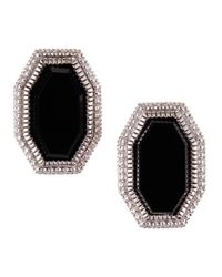 Judith Ripka - Multicolor Modern Deco Onyx Button Earrings - Lyst