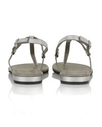 Lotus | Metallic Samos Toe Post Sandals | Lyst