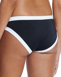 MILLY - Black Amalfi Surfer Girl Colorblock Hipster Swim Bottom - Lyst