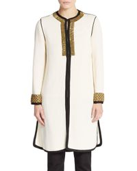 Etro - White Embellished Linen-blend Jacket - Lyst