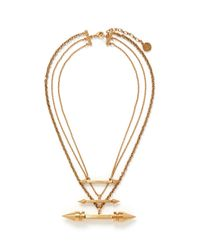 Ela Stone | Metallic 'rocca' Arrow Spike Tier Necklace | Lyst