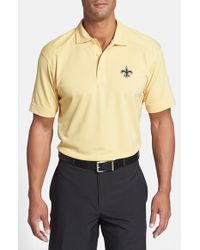 Cutter & Buck | Natural New Orleans Saints - Genre Drytec Moisture-Wicking Polo Shirt for Men | Lyst