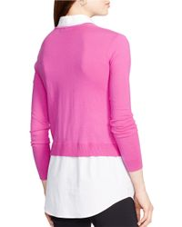 Lauren by Ralph Lauren | Pink Layered Sweater | Lyst