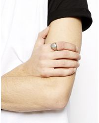 Cheap Monday - Metallic Signet Ring for Men - Lyst