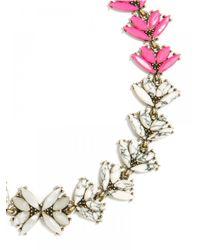 BaubleBar - Pink Howlite Botanica Collar - Lyst