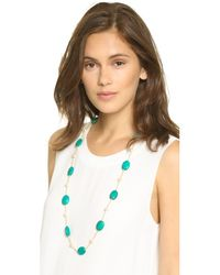 Kenneth Jay Lane | Green Imitation Pearl & Stone Necklace - Jade | Lyst