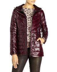 DKNY | Purple Packable Down Jacket | Lyst