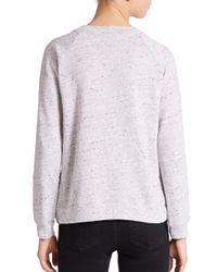Monrow - Gray City Sweatshirt - Lyst