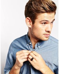 ASOS - Brown Signet Ring With Side Detail for Men - Lyst