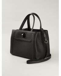 BVLGARI - Black Structured Calf-Leather Tote - Lyst