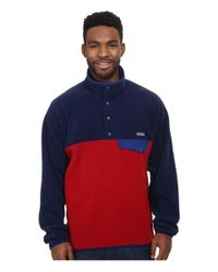 Patagonia - Blue Lightweight Synchilla® Snap-t® for Men - Lyst