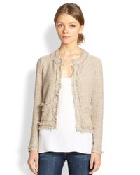 Joie - Natural Porsha Frayed-edge Tweed Box Jacket - Lyst