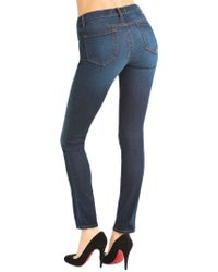 J Brand - Blue 811 Mid-rise Skinny Leg - Lyst