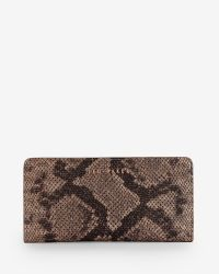 Ted Baker | Brown Exotic Leather Matinee Purse | Lyst