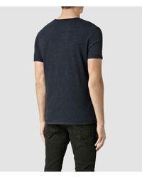 AllSaints | Blue Colton Baltis Crew T-shirt for Men | Lyst