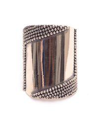 Anndra Neen | Metallic Silver Mirror Cuff | Lyst