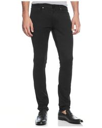 Michael Kors - Black Slim-fit Five-pocket Twill Pants for Men - Lyst