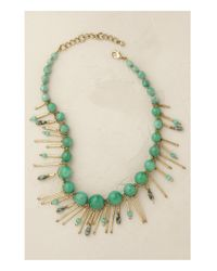 Anthropologie | Green Balangan Tassel Necklace | Lyst
