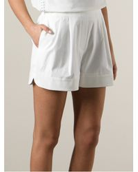 3.1 Phillip Lim - White Loose Fit Shorts - Lyst