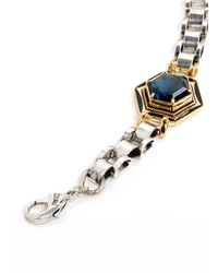Lulu Frost - Metallic 'nicandra' Glass Crystal Arched Chain Bracelet - Lyst