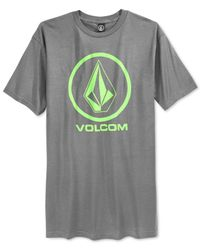 Volcom - Gray Circle Stone T-shirt for Men - Lyst