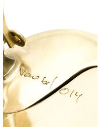 Vaubel - Metallic Round Clip-on Earring - Lyst