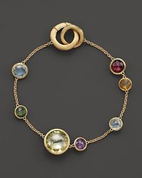 Marco Bicego | Metallic 18k Yellow Gold Jaipur Bracelet With Mixed Semi-precious Gemstones | Lyst