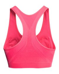 H&M | Pink Sports Bra Low Support | Lyst