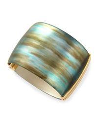 Alexis Bittar | Blue Liquid Metal Hinge Bracelet | Lyst