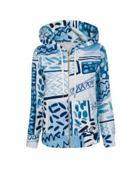 Paul Smith | Women'S Blue 'Painted Patchwork' Loopback Cotton Hoodie | Lyst