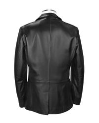FORZIERI - Black Genuine Leather Blazer for Men - Lyst