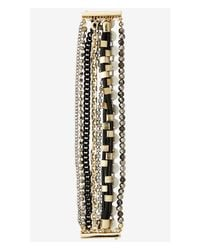Express | Multicolor 8-row Mixed Bead Bracelet | Lyst