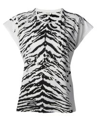 Saint Laurent | White Tiger Print T-shirt | Lyst