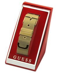 Guess | Metallic Mesh Buckle Belt Bracelet | Lyst